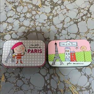 Set of 2 Paris Tins